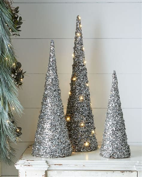 blue and silver cone christmas tree 17 best images about horchow 2015 white collection on trees