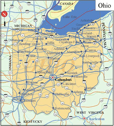 printable ohio road map pin map of vermont cities road on pinterest