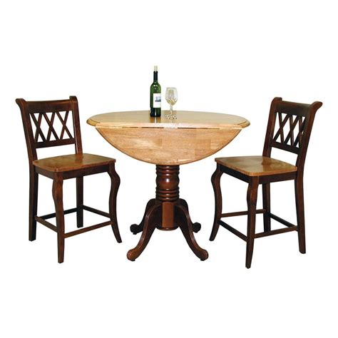 drop leaf dining table set sunset trading drop leaf table counter height dining
