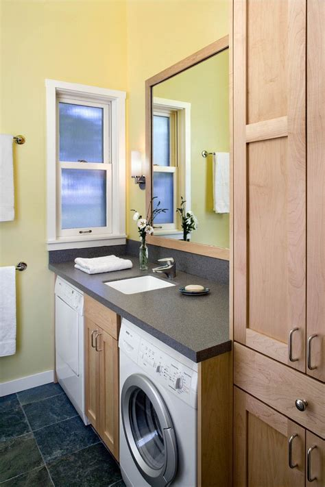 laundry room in bathroom ideas washer dryer the bathroom counter no shitty