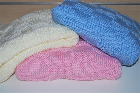 baby knitted blankets garter stitch check baby blanket knitting pattern