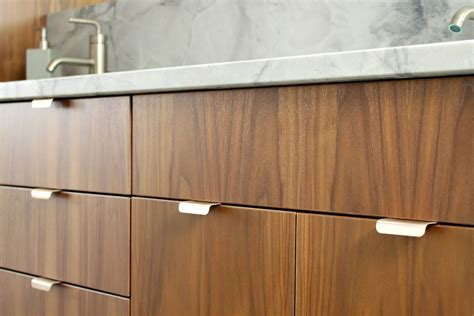 contemporary kitchen cabinet hardware pulls bathroom reno update mid century modern inspired cabinet