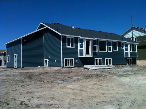 blue siding house chapman place new house update