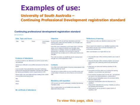 Resume Example Singapore by Eportfolios For Continuous Professional Development Cpd