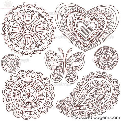 desenhos para tatuagem de henna foto de tatuagem
