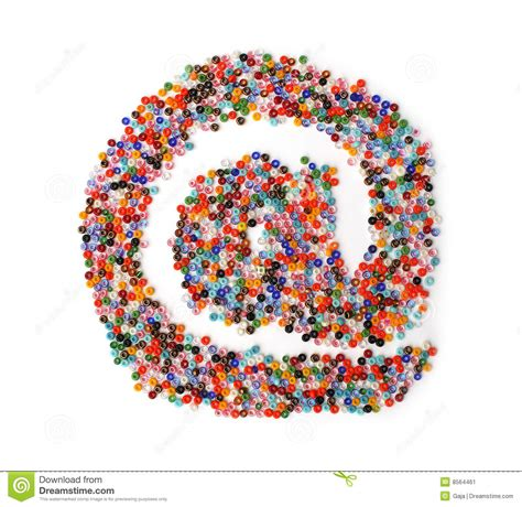 the glass bead audiobook glass forming the e mail symbol stock image image