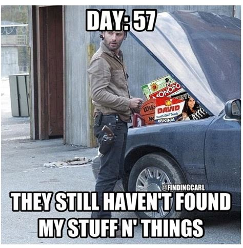 Stuff And Things Meme - rick grimes stuff n things rick grimes loves his