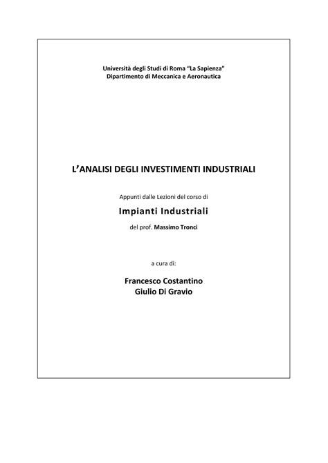 dispense impianti industriali impianti industriali fattibilit 224 e investimenti dispense