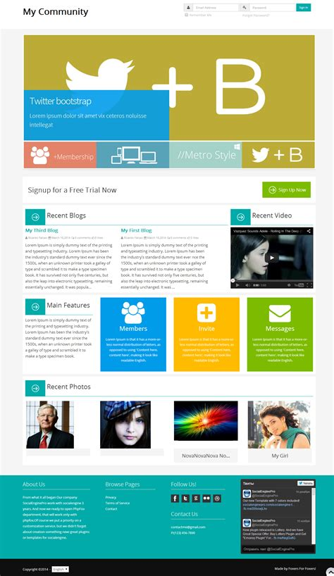 i love metro template 4 9 template for socialengine