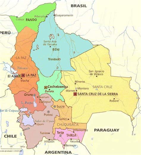 bolivia political map maps of bolivia
