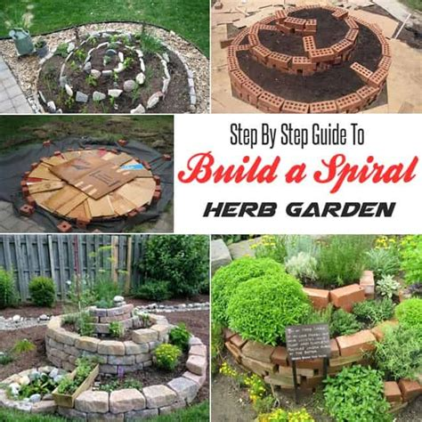 how to build an herb garden step by step guide to build a spiral herb garden gardenoid