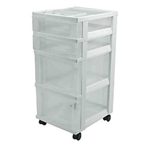 Office Depot Storage Drawers by Office Depot Brand 4 Drawer Storage Cart 26 316 H X 12 18