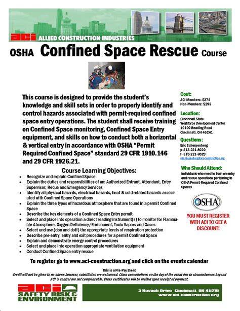 confined space plan template confined space rescue december 12 13 2013 cancelled