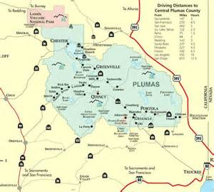 map of plumas county northern california gem of the