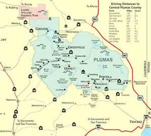 plumas county california map map of plumas county northern california gem of the