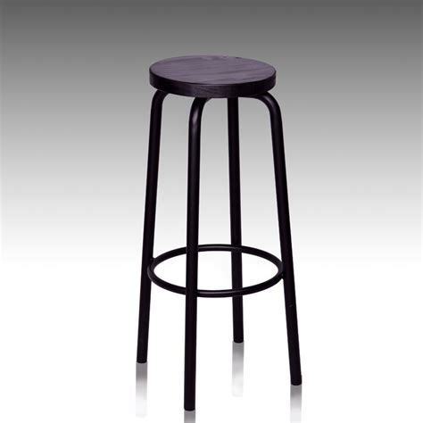 Wrought Iron Bar Stools Wood Seat by European Style Wrought Iron Circular Wood Bar Chairs