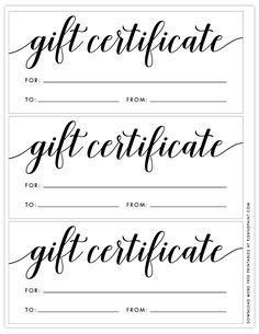 Gift Voucher Template | Free gift certificate template