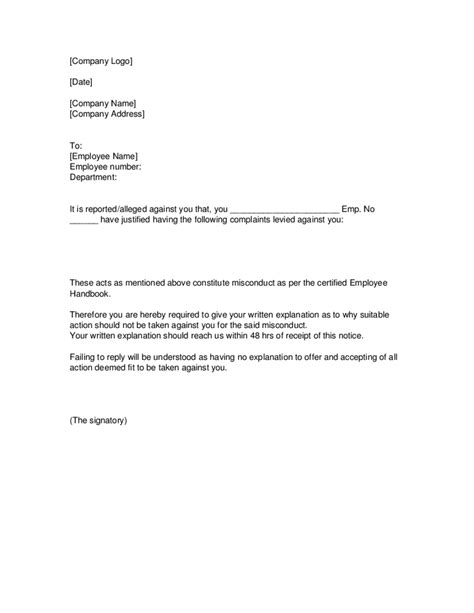 Labour Warning Letter Warning Letters For Employees Exles Docoments Ojazlink