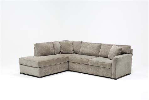 aspen sectional aspen 2 piece sleeper sectional w laf chaise living spaces