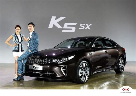 Korea Kia Kia K5 Sedan Optima Launched With 5 Engines And Two