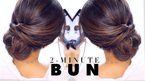 chic easy hairstyles un chignon facile et rapide deux minutes seulement