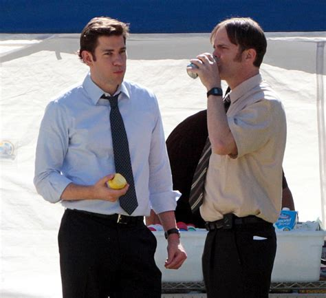 The Office Breaks Back by Rainn Wilson Pictures Krasinski And Wilson