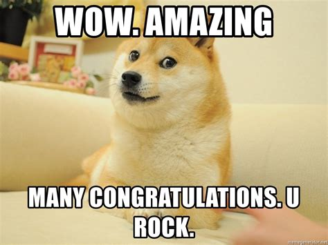 Memes Doge - wow amazing many congratulations u rock so doge