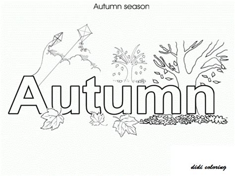 didi coloring page seasons