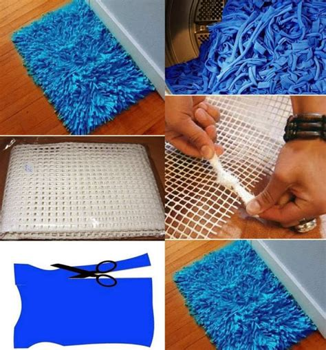 How To Make Handmade Carpets - bath rug diy alldaychic