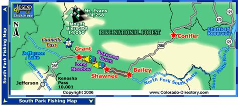 southwest colorado fly fishing map fork south platte river