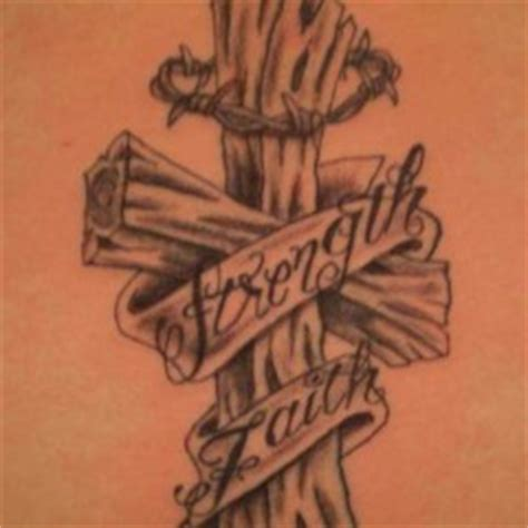 wood grain cross tattoos strength archives tattoou