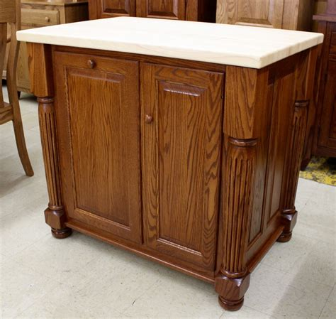 amish kitchen island with turned legs turned leg island with butcher block top amish traditions wv