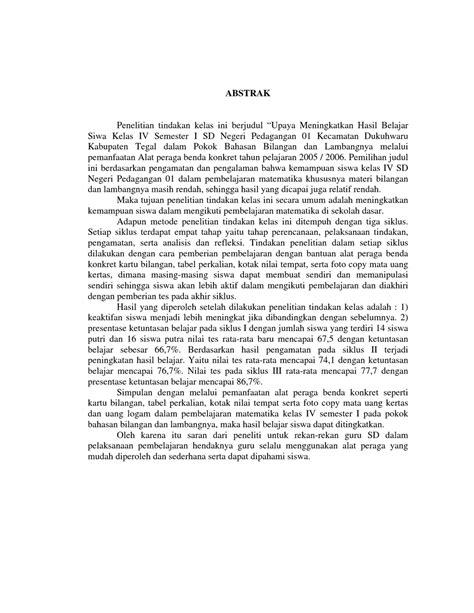 format penulisan abstrak contoh sederhana kerangka penelitian ilmiah