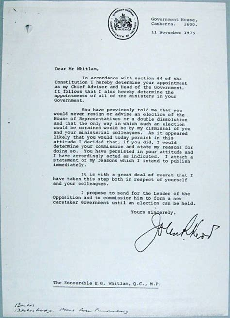 Dismissal Of Gough Whitlam Essay by The World S Catalog Of Ideas