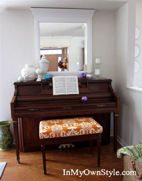 how to make a piano bench how to make a no sew fabric covered cushion in my own style