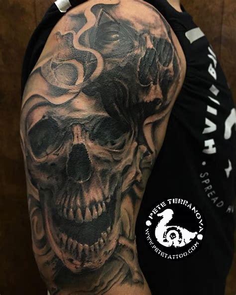 unique skull tattoos custom black and gray skulls custom tattoos