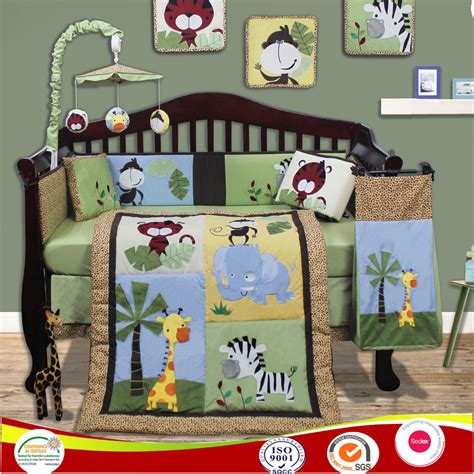 Jungle Cot Bedding Set Baby Boy Bedding Set Jungle Animal Cot Bedding Sets Crib Bedlinen Nursery Beddings Purchasing