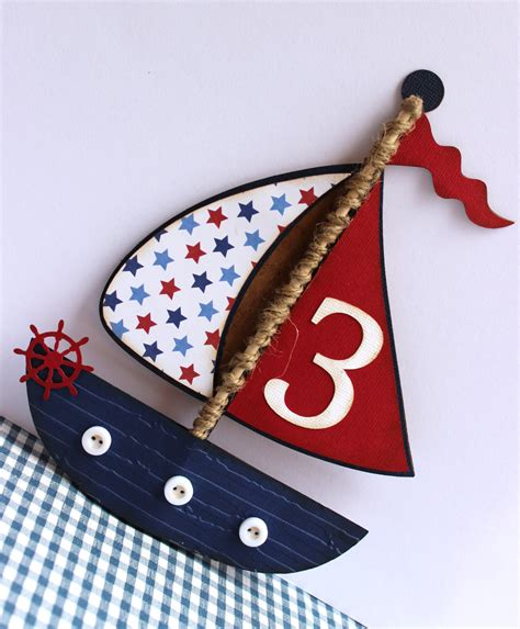 Handmade Sailboat - handmade nautical invitation sailboat boat birthday