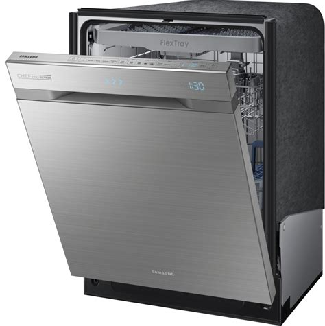 Samsung Dishwasher Samsung Dw80h9970us Fully Integrated Dishwasher With 3rd Rack With Flextray Waterwall System