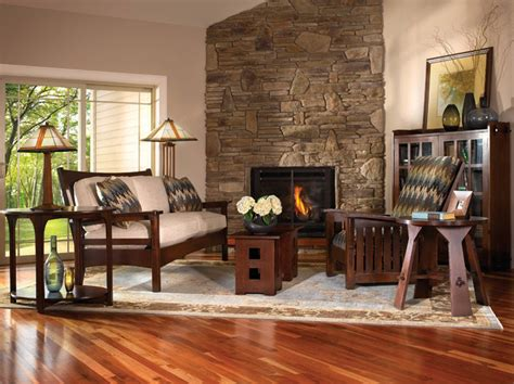 craftsman style living room furniture mission collection