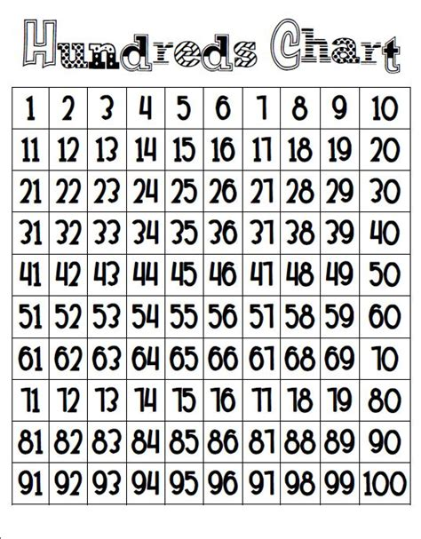 printable completed hundreds chart elementary organization a freebie to brighten this dreary