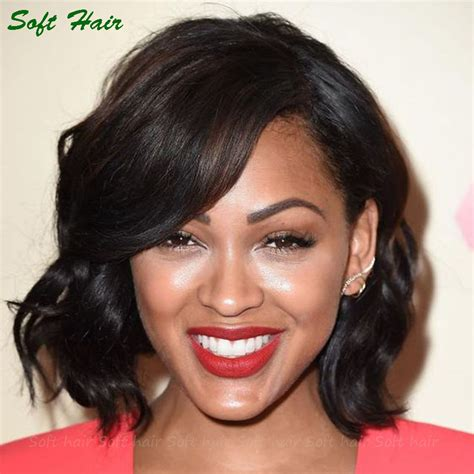 black anchor with short hair lace wigs for black women human hair short hairstyle 2013