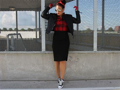 e fashionblogger h m pencil skirt converse