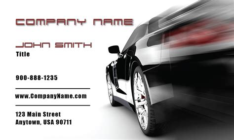 Auto Dealer Business Cards Templates by Black Racing Car Auto Dealer Business Card Design 501201