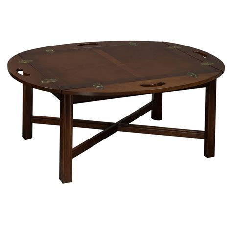 used coffee table used veneer coffee table w handles walnut national