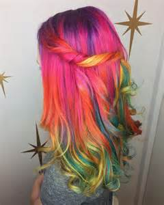 colorful hairstyles 28 rainbow hair color ideas for 2017