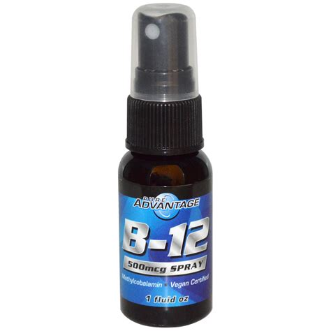 Pure Advantage, B 12 Spray, 500 mcg, 1 fl oz   iHerb.com