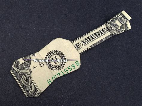 Dollar Origami Guitar - money origami ukulele guitar dollar bill made