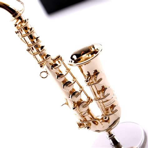 instrument with metal deco instrument quot saxophon quot metal 4 3 quot with stand