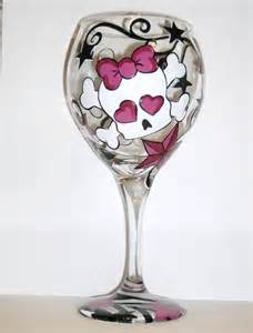 Painted Designs On Wine Glasses » Home Design 2017